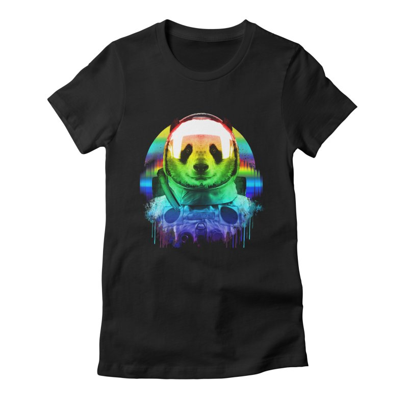 SPACE PANDA Women's Fitted T-Shirt by AGIMATNIINGKONG's Artist Shop
