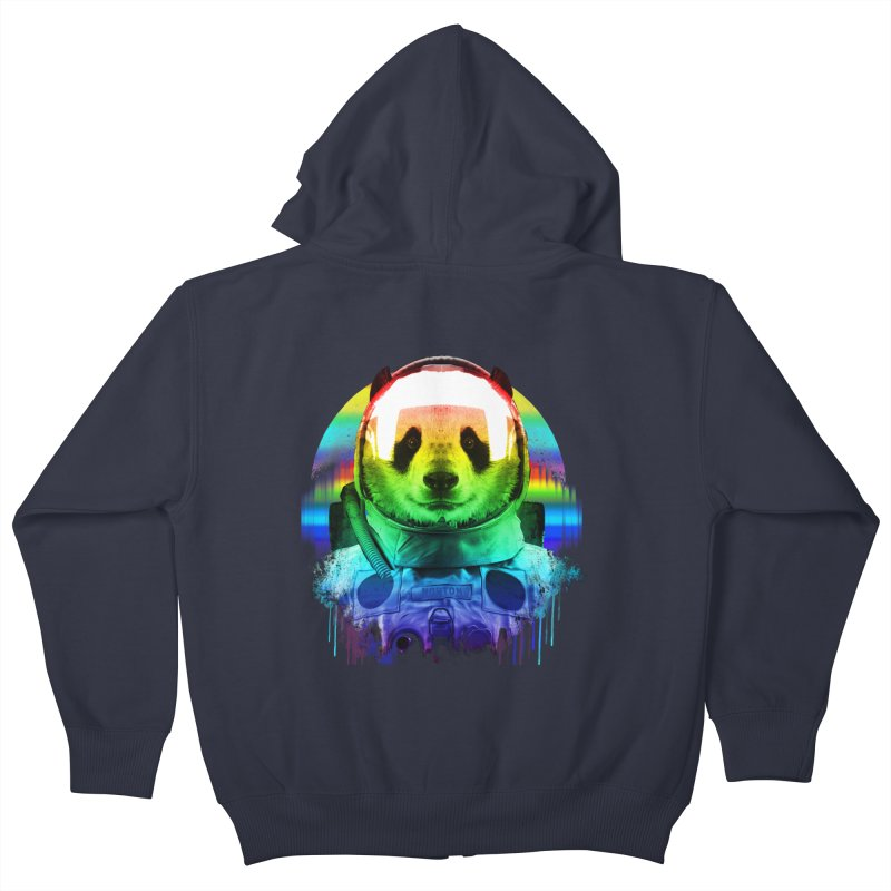 SPACE PANDA Kids Zip-Up Hoody by AGIMATNIINGKONG's Artist Shop