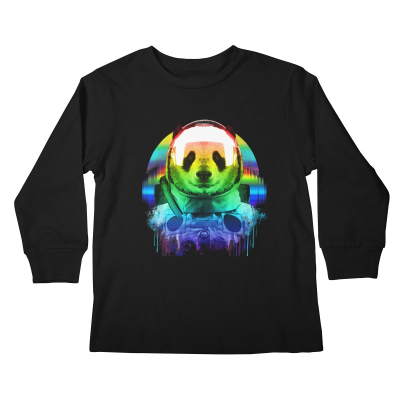 SPACE PANDA Kids Longsleeve T-Shirt by AGIMATNIINGKONG's Artist Shop