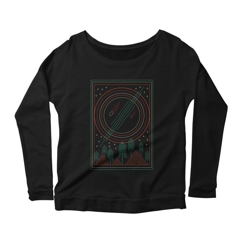 STARRY STARRY NIGHT Women's Scoop Neck Longsleeve T-Shirt by AGIMATNIINGKONG's Artist Shop