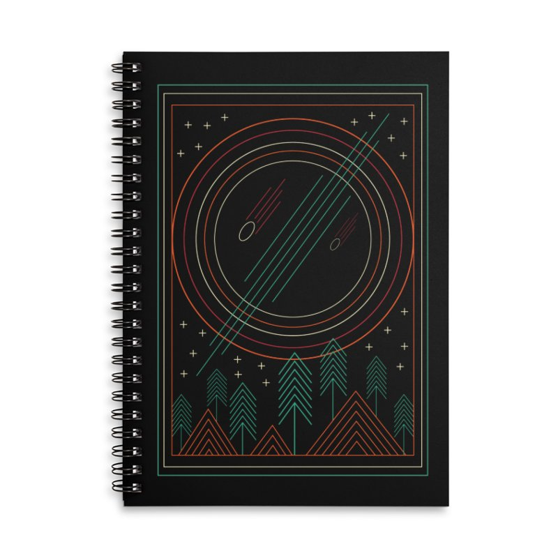 STARRY STARRY NIGHT Accessories Lined Spiral Notebook by AGIMATNIINGKONG's Artist Shop