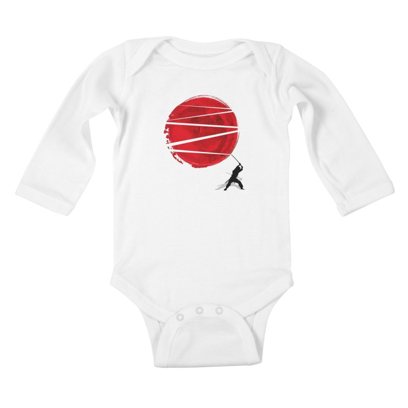 Slice of the Sun Kids Baby Longsleeve Bodysuit by AGIMATNIINGKONG's Artist Shop
