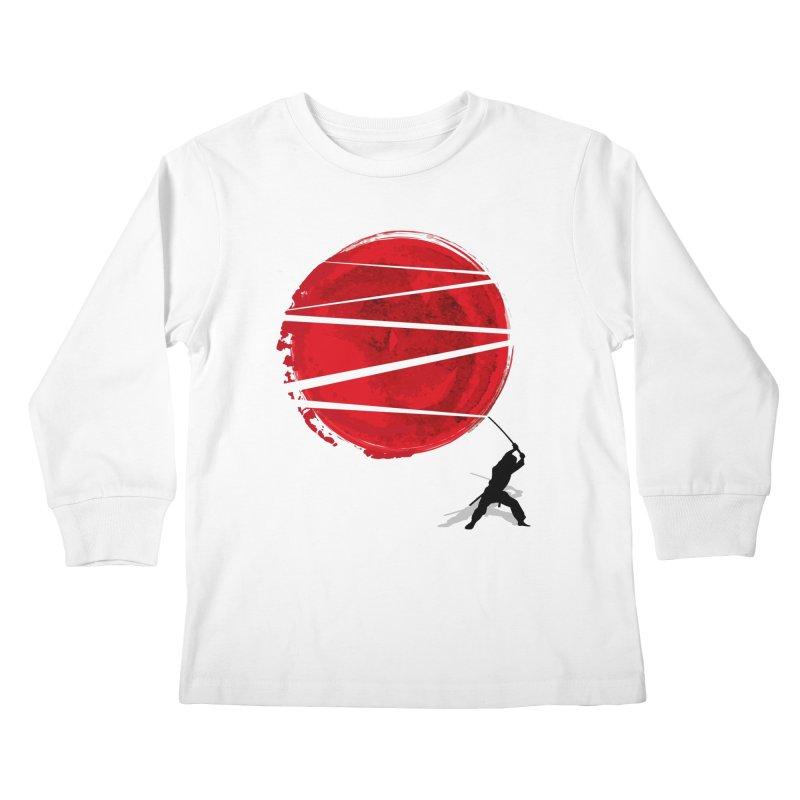Slice of the Sun Kids Longsleeve T-Shirt by AGIMATNIINGKONG's Artist Shop