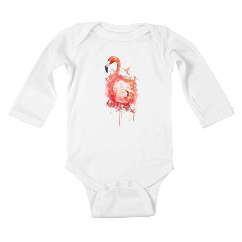 Flightless Kids Baby Longsleeve Bodysuit by AGIMATNIINGKONG's Artist Shop