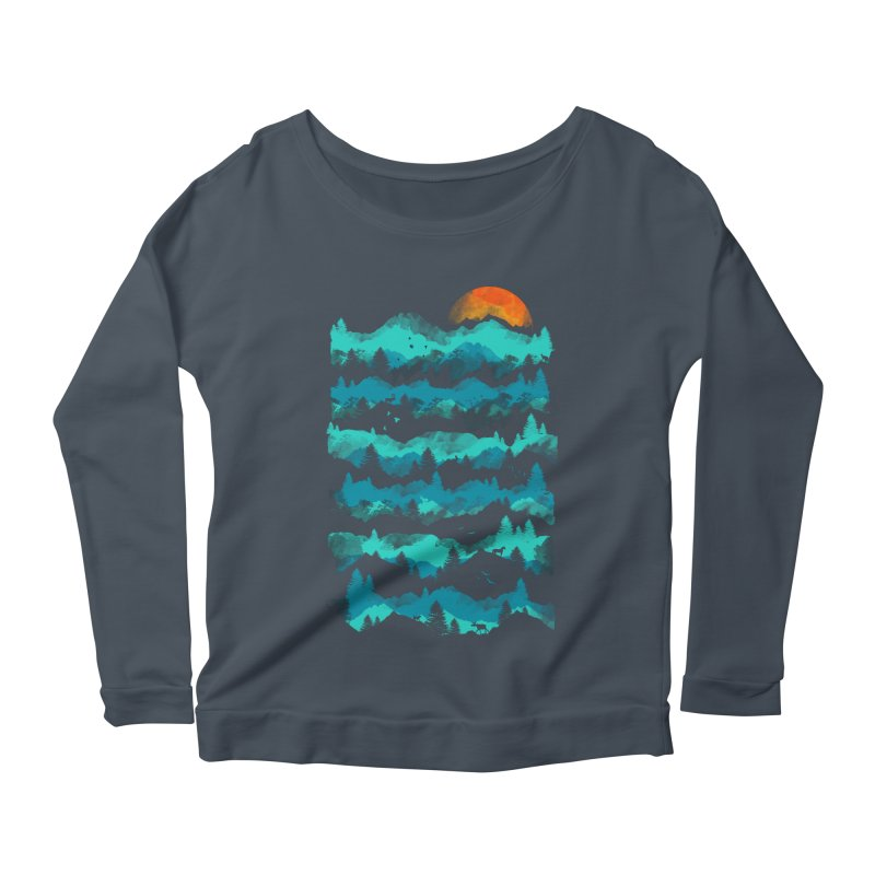 Nature Levels Women's Scoop Neck Longsleeve T-Shirt by AGIMATNIINGKONG's Artist Shop