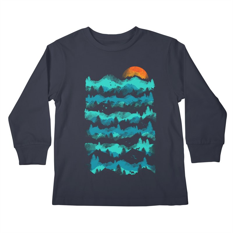 Nature Levels Kids Longsleeve T-Shirt by AGIMATNIINGKONG's Artist Shop