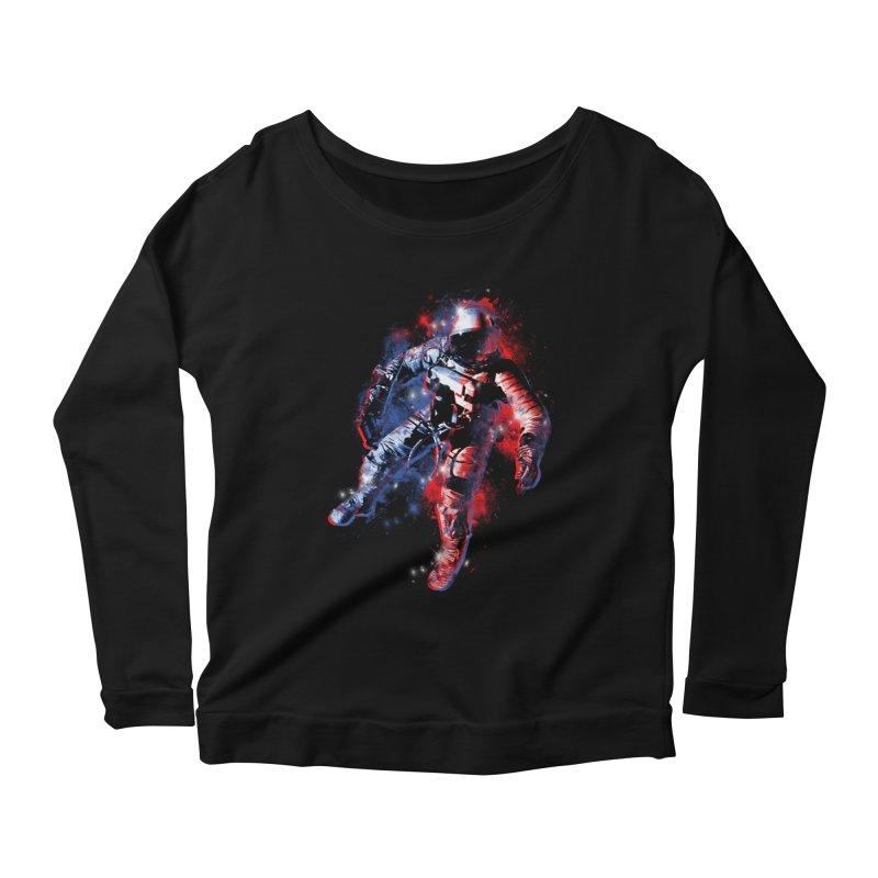 SPACE ODDITY Women's Scoop Neck Longsleeve T-Shirt by AGIMATNIINGKONG's Artist Shop