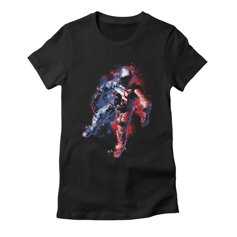 SPACE ODDITY Women's Fitted T-Shirt by AGIMATNIINGKONG's Artist Shop