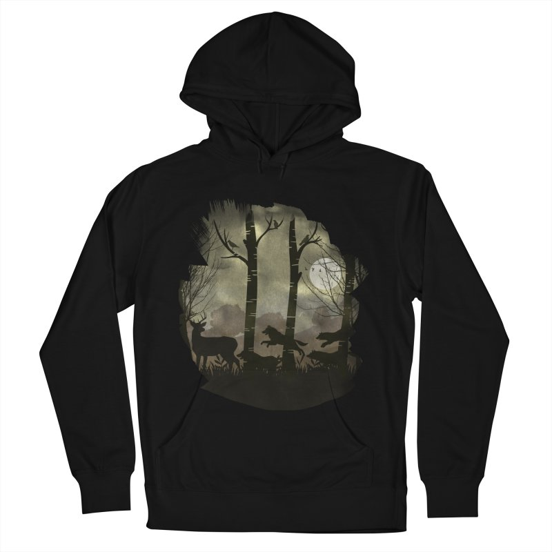 Night Chase Men's French Terry Pullover Hoody by AGIMATNIINGKONG's Artist Shop