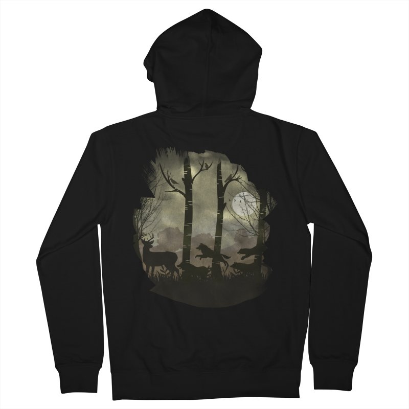 Night Chase Men's Zip-Up Hoody by AGIMATNIINGKONG's Artist Shop