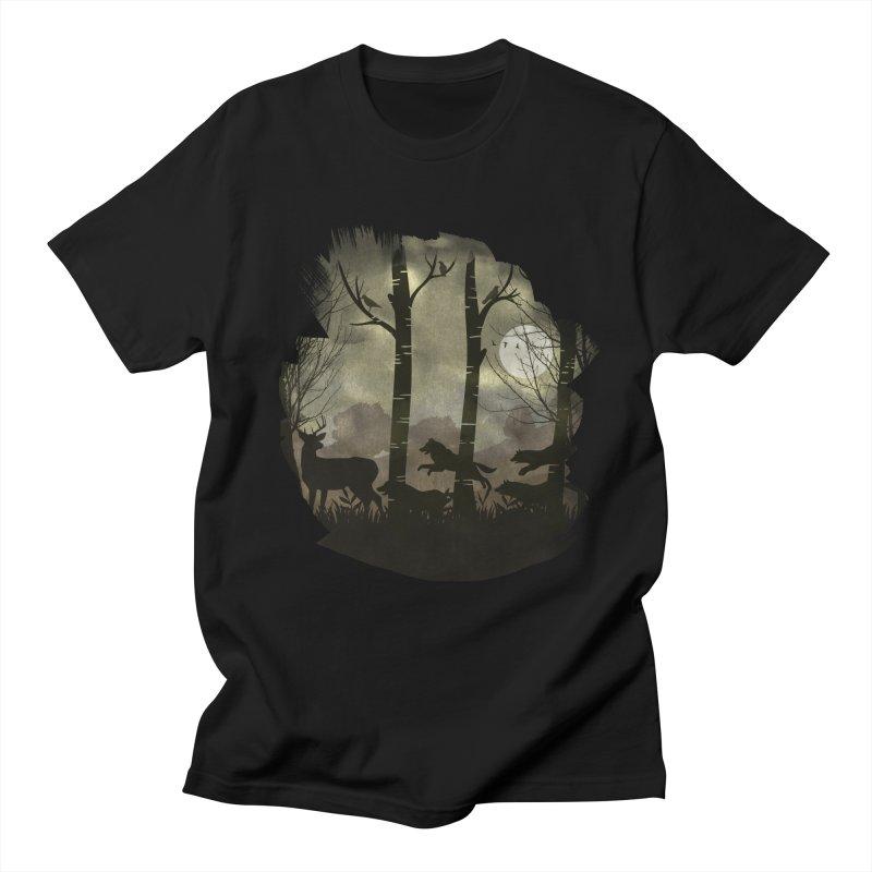 Night Chase Men's Regular T-Shirt by AGIMATNIINGKONG's Artist Shop