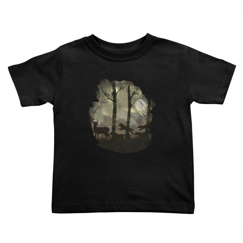 Night Chase Kids Toddler T-Shirt by AGIMATNIINGKONG's Artist Shop