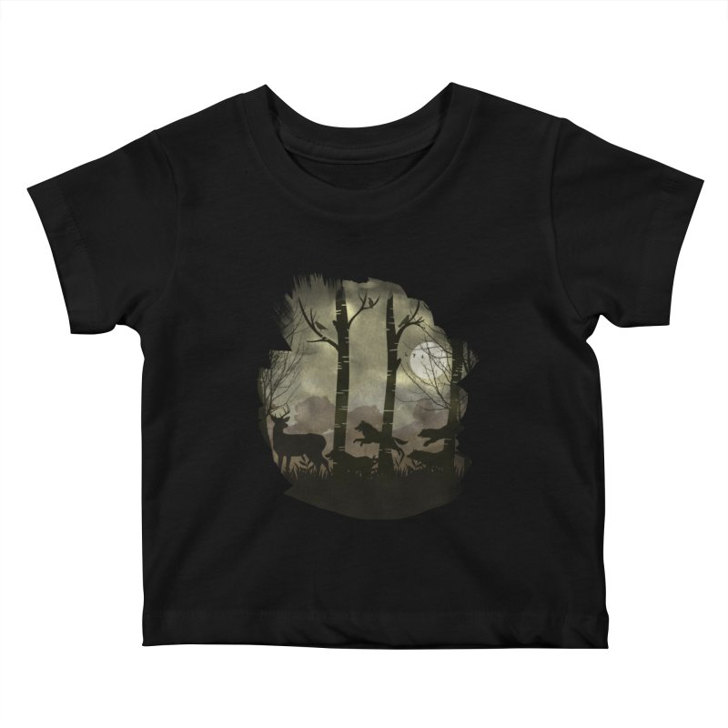 Night Chase Kids Baby T-Shirt by AGIMATNIINGKONG's Artist Shop