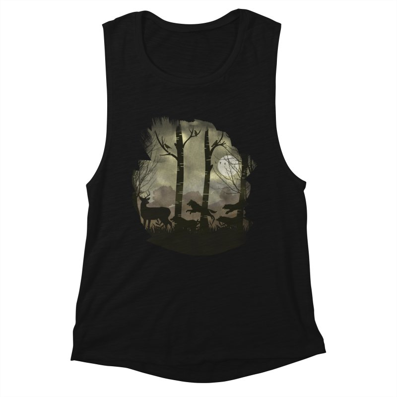 Night Chase Women's Muscle Tank by AGIMATNIINGKONG's Artist Shop