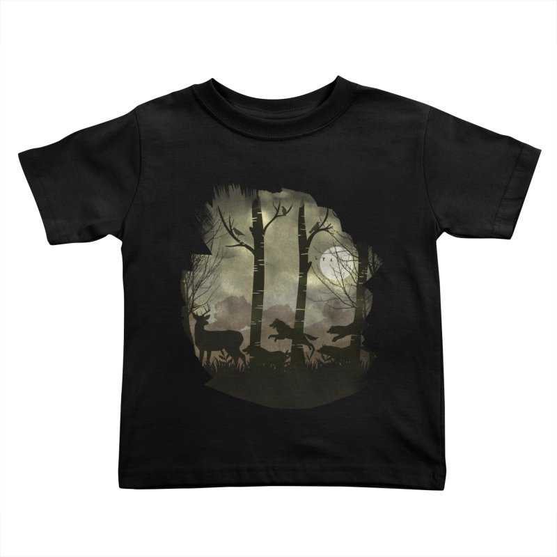 Night Chase Kids Toddler T-Shirt by AGIMATNIINGKONG's Artist Shop