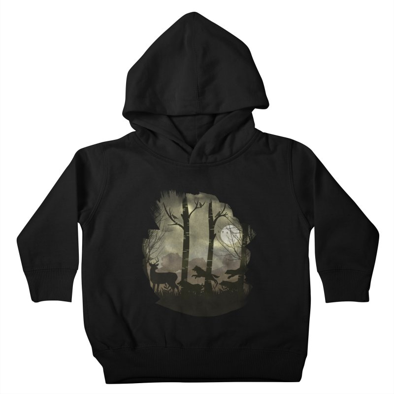 Night Chase Kids Toddler Pullover Hoody by AGIMATNIINGKONG's Artist Shop