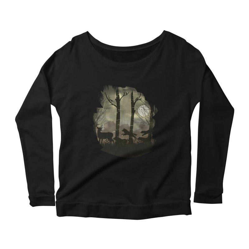 Night Chase Women's Scoop Neck Longsleeve T-Shirt by AGIMATNIINGKONG's Artist Shop