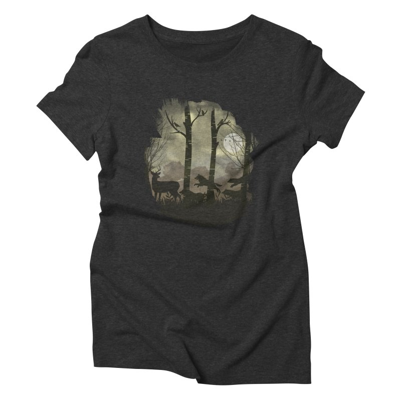 Night Chase Women's Triblend T-Shirt by AGIMATNIINGKONG's Artist Shop