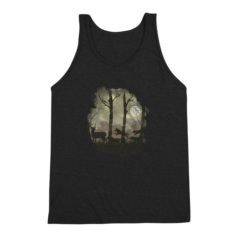 Night Chase Men's Triblend Tank by AGIMATNIINGKONG's Artist Shop