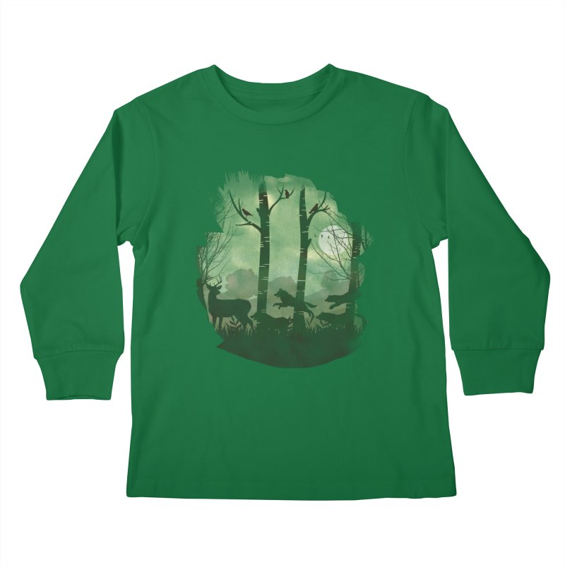Night Chase Kids Longsleeve T-Shirt by AGIMATNIINGKONG's Artist Shop