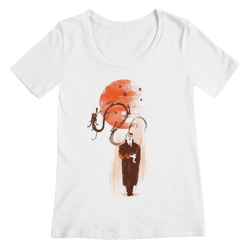 DALI'S DRAGON Women's Regular Scoop Neck by AGIMATNIINGKONG's Artist Shop