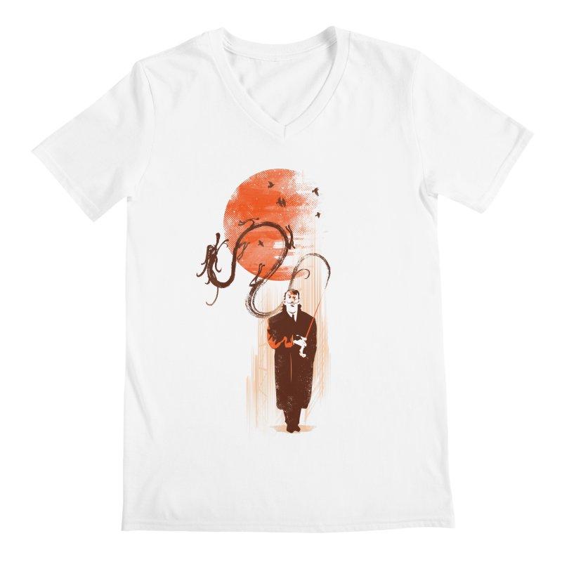 DALI'S DRAGON Men's V-Neck by AGIMATNIINGKONG's Artist Shop