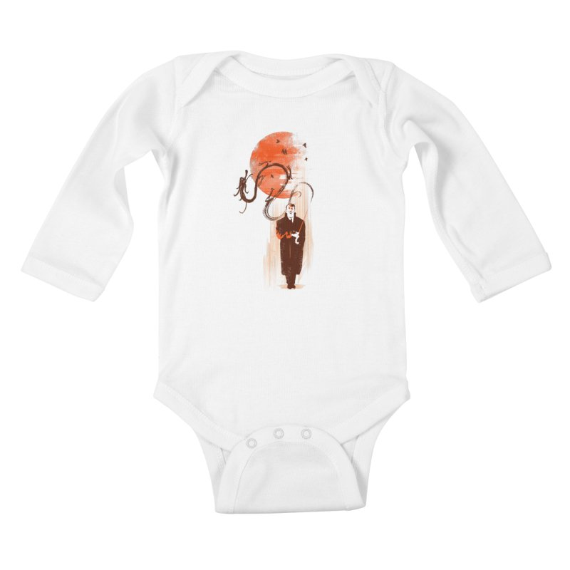 DALI'S DRAGON Kids Baby Longsleeve Bodysuit by AGIMATNIINGKONG's Artist Shop