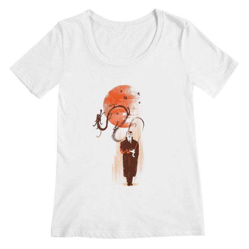 DALI'S DRAGON Women's Scoopneck by AGIMATNIINGKONG's Artist Shop