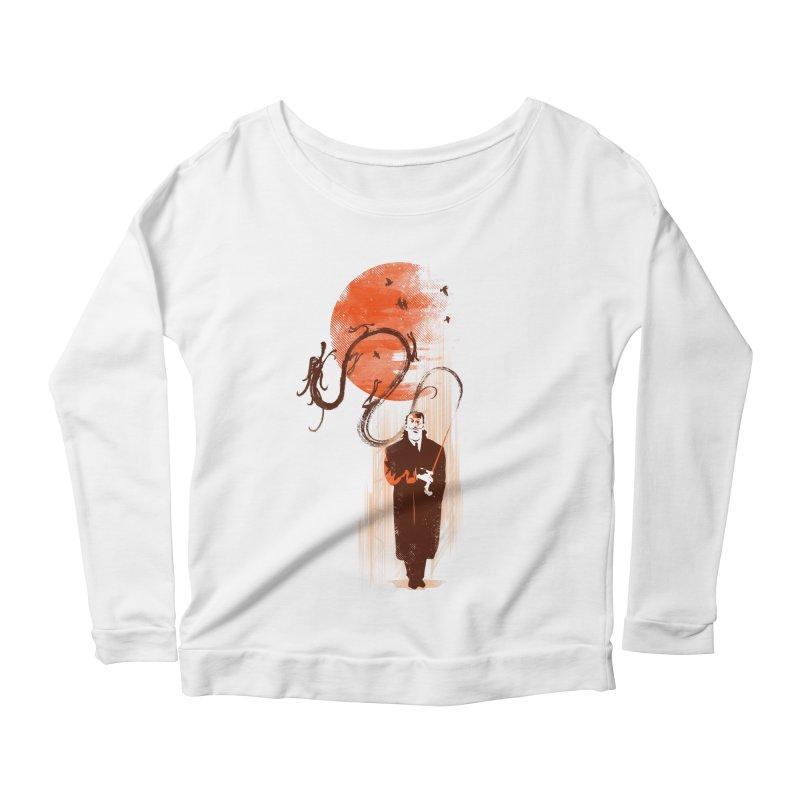 DALI'S DRAGON Women's Scoop Neck Longsleeve T-Shirt by AGIMATNIINGKONG's Artist Shop