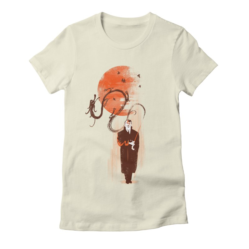 DALI'S DRAGON Women's Fitted T-Shirt by AGIMATNIINGKONG's Artist Shop