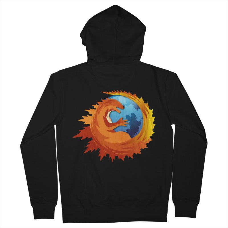 Godzilla Browser Women's French Terry Zip-Up Hoody by AGIMATNIINGKONG's Artist Shop