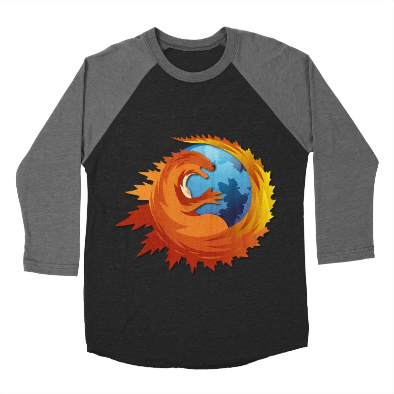 Godzilla Browser Women's Baseball Triblend Longsleeve T-Shirt by AGIMATNIINGKONG's Artist Shop