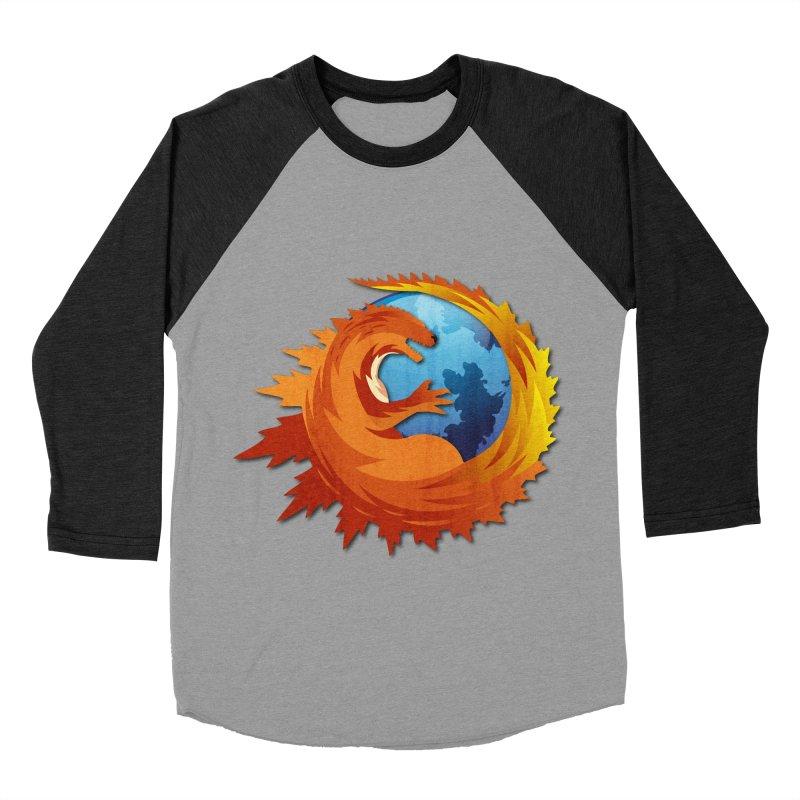 Godzilla Browser Men's Baseball Triblend Longsleeve T-Shirt by AGIMATNIINGKONG's Artist Shop