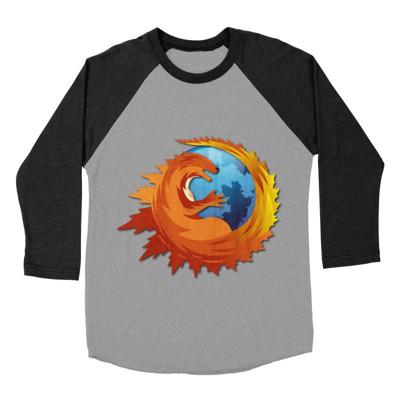 Godzilla Browser Men's Baseball Triblend T-Shirt by AGIMATNIINGKONG's Artist Shop