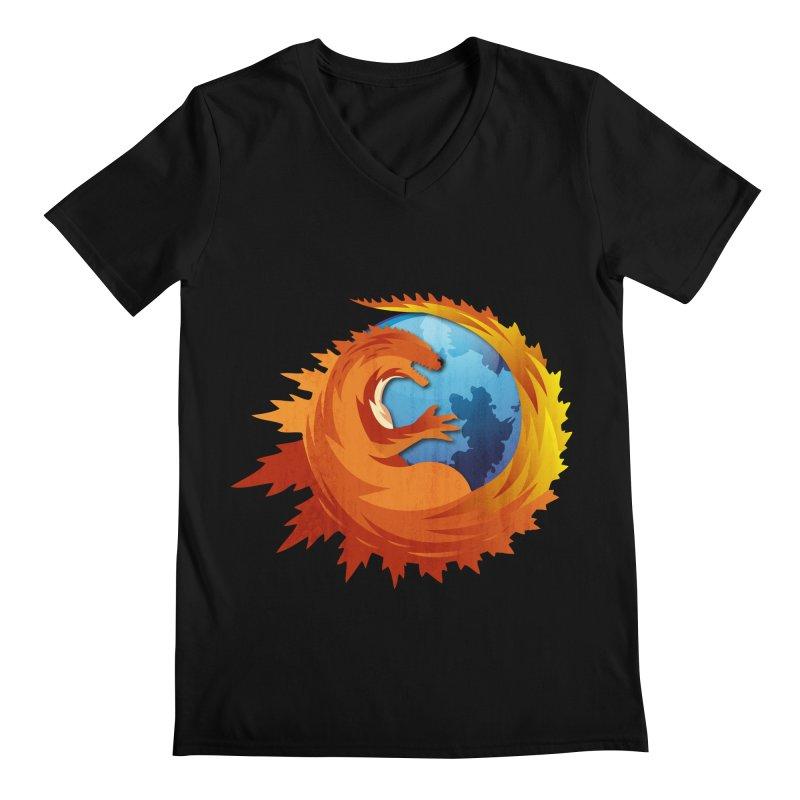 Godzilla Browser Men's V-Neck by AGIMATNIINGKONG's Artist Shop