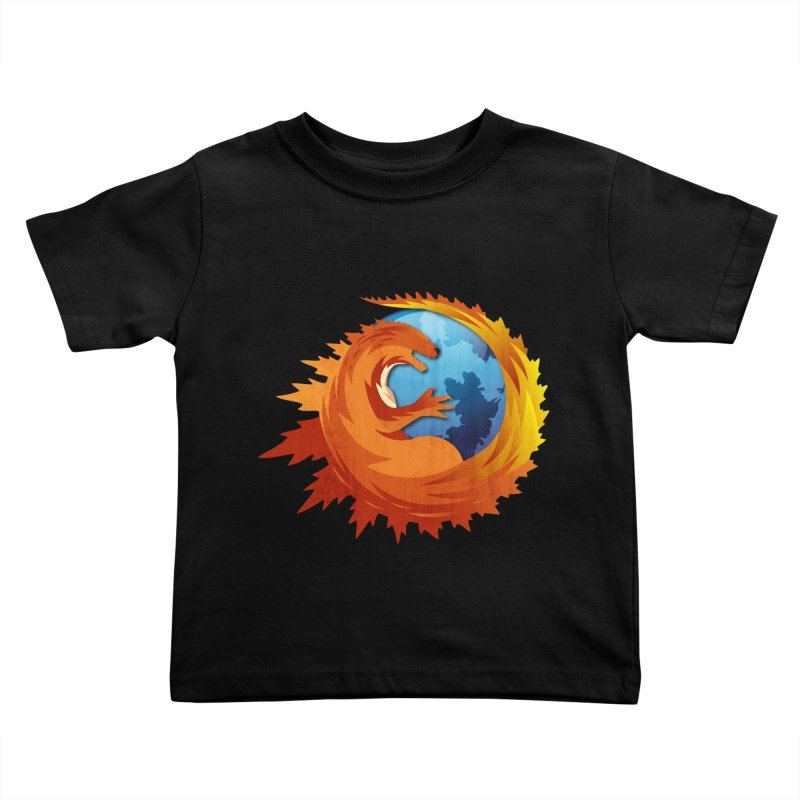 Godzilla Browser Kids Toddler T-Shirt by AGIMATNIINGKONG's Artist Shop