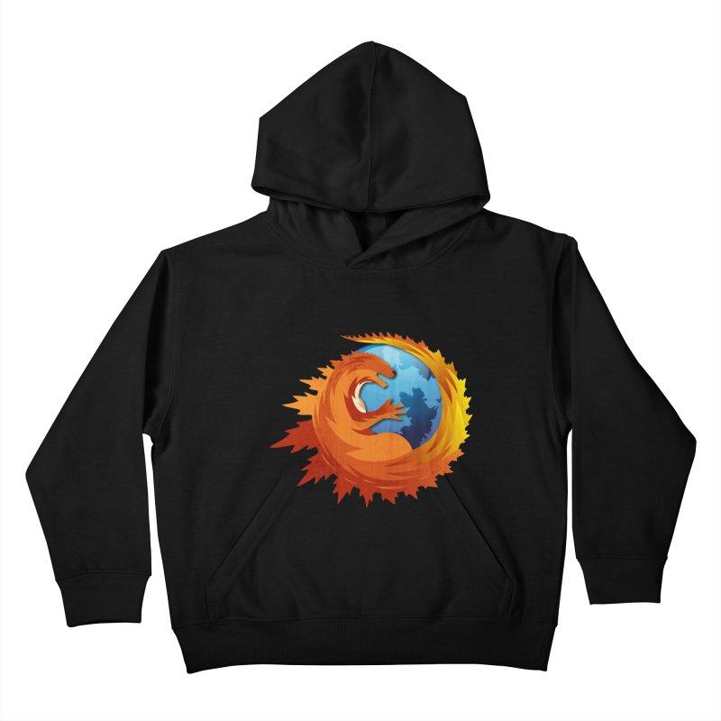 Godzilla Browser Kids Pullover Hoody by AGIMATNIINGKONG's Artist Shop