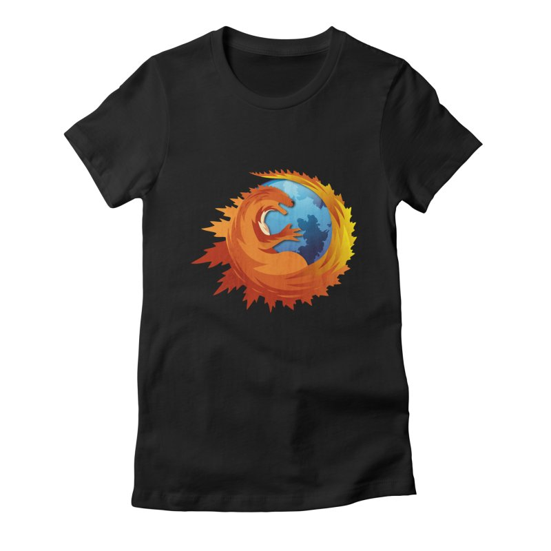 Godzilla Browser Women's Fitted T-Shirt by AGIMATNIINGKONG's Artist Shop