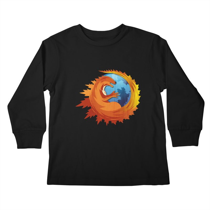 Godzilla Browser Kids Longsleeve T-Shirt by AGIMATNIINGKONG's Artist Shop