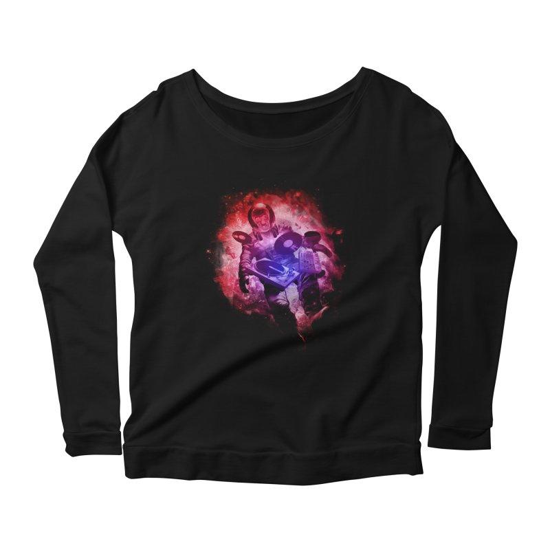 Air Waves Mix Women's Scoop Neck Longsleeve T-Shirt by AGIMATNIINGKONG's Artist Shop