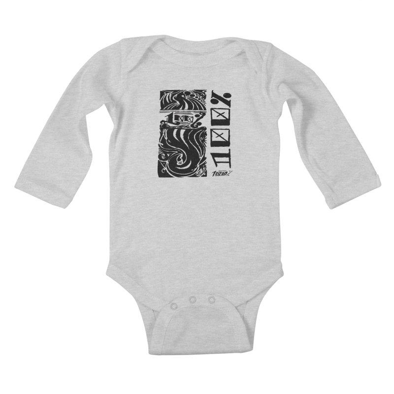 So 100 Kids Baby Longsleeve Bodysuit by ArtHeartB