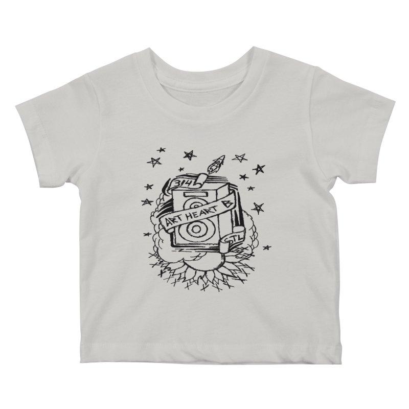 Space Bass Kids Baby T-Shirt by ArtHeartB