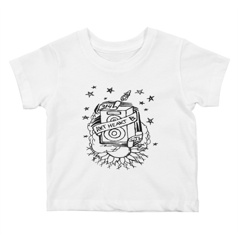 Space Bass Kids Baby T-Shirt by ArtHeartB
