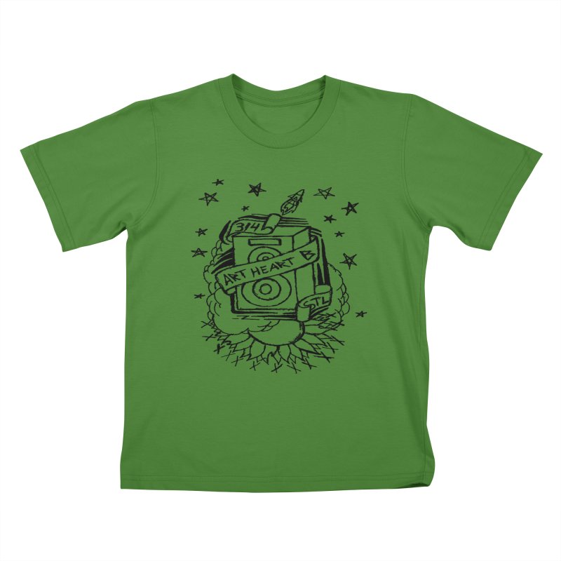 Space Bass Kids T-Shirt by ArtHeartB