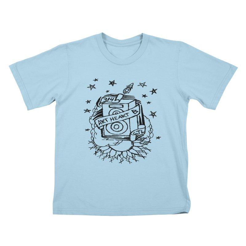 Space Bass Kids T-Shirt by ArtHeartB