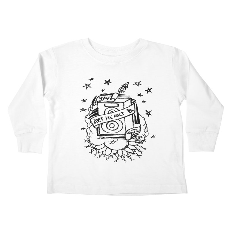 Space Bass Kids Toddler Longsleeve T-Shirt by ArtHeartB