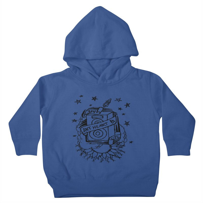Space Bass Kids Toddler Pullover Hoody by ArtHeartB