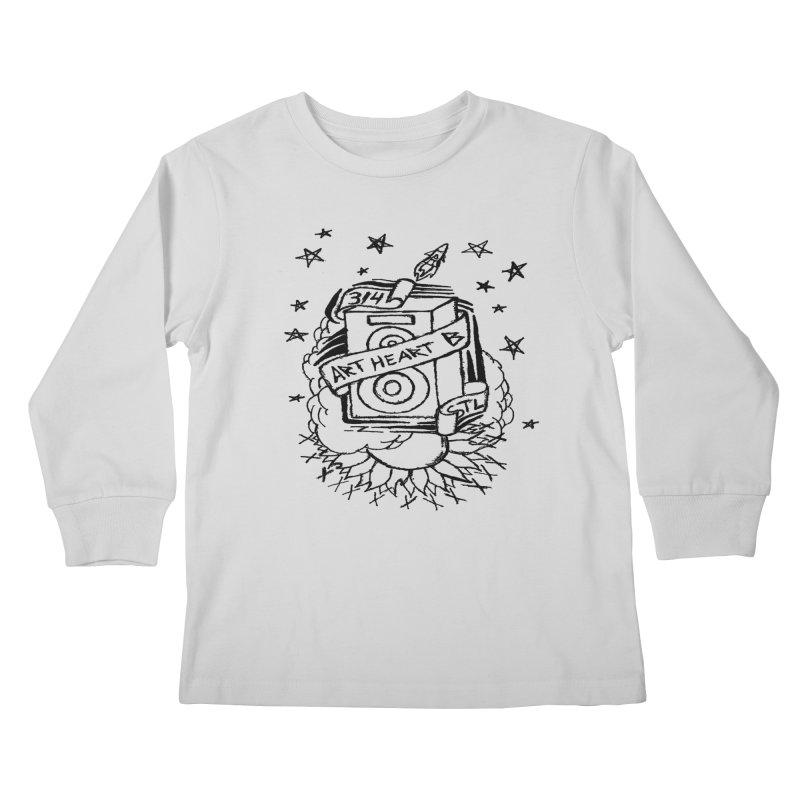 Space Bass Kids Longsleeve T-Shirt by ArtHeartB