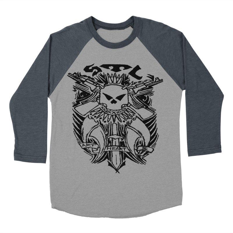 STL Savage Men's Baseball Triblend T-Shirt by ArtHeartB