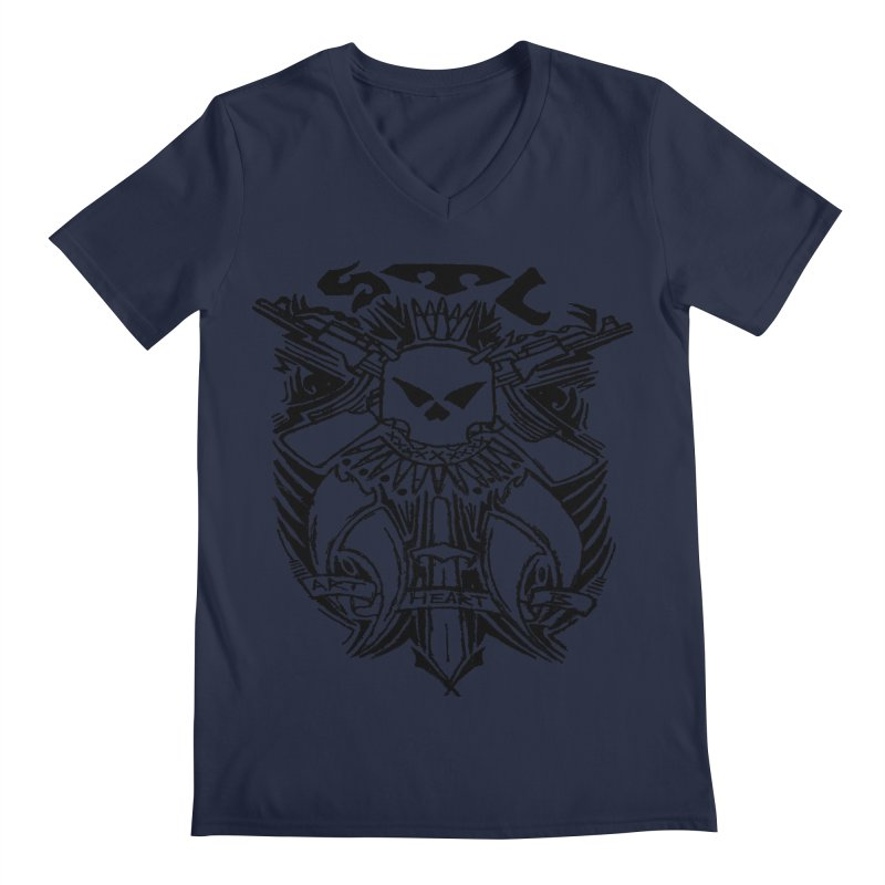 STL Savage Men's V-Neck by ArtHeartB